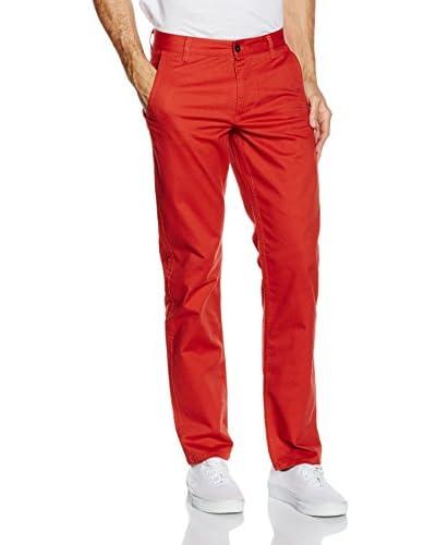 Dockers Pantalone Alpha Khaki Slim Rosso W32L34