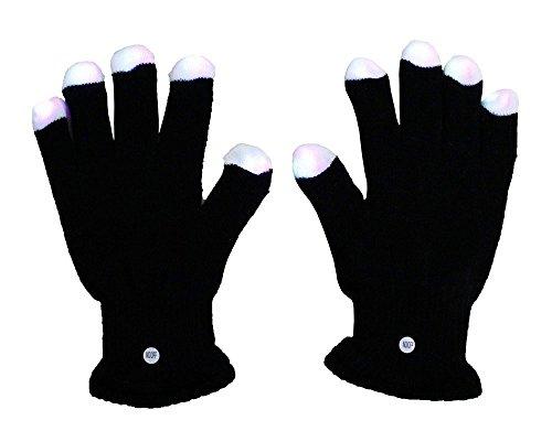 Leegoal (Tm) Raver Blacked Out Gloves Rgb Led 7 Colors Light Show Gloves,1 Pair