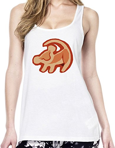 Simba The Lion King Logo Tunica delle donne Large
