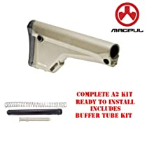 MAGPUL MAG404-FDE Moe Fixed Rifle Stock With DPMS Complete A2 Buffer Tube Kit