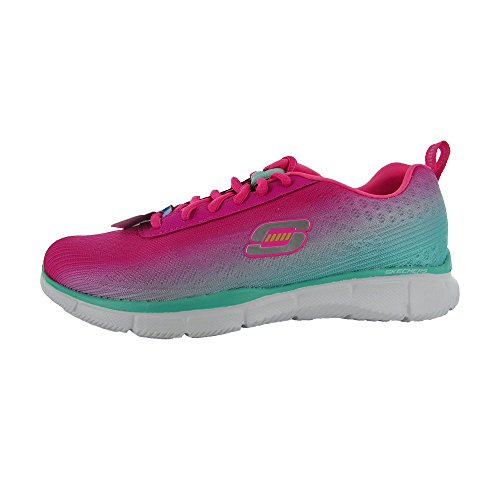 Skechers Women Equalizer Perfect Pair 11892 Training Shoe,Hot Pink/Turquoise,7