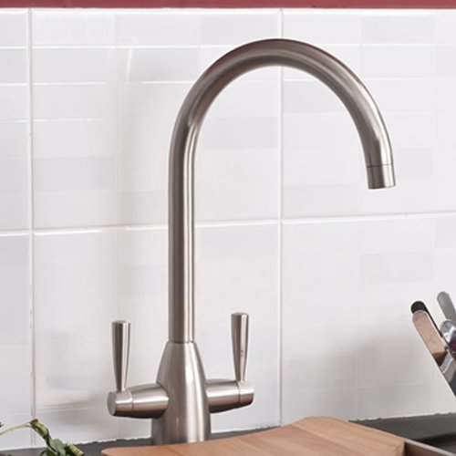 Felicia Brushed Steel Kitchen Sink Mixer Tap