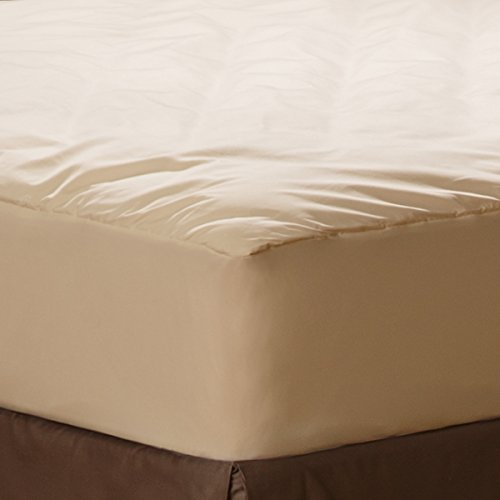 Aller-Ease Naturals Organic Cotton Waterproof Mattress Pad, Queen (Natural Mattresses compare prices)