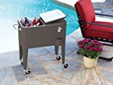 Living Accents Rolling Steel Cooler