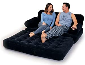 Flocked Inflatable Sofa Bed Air Bed Mattresses