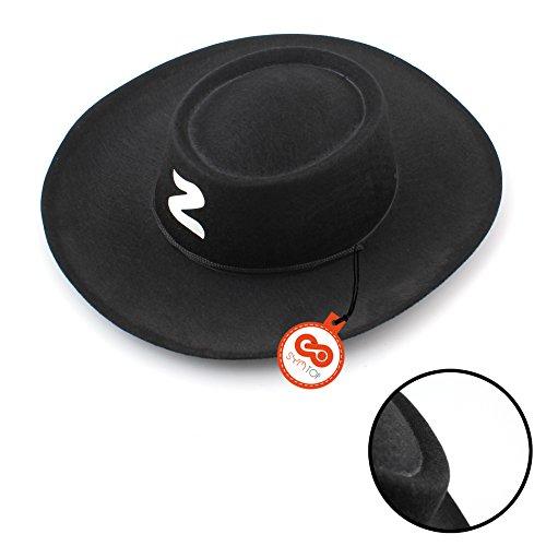 [Halloween Kids Bandit Zorro Hats Cosplay Party Fancy Dress Costume Accessory] (Zorro Hat)