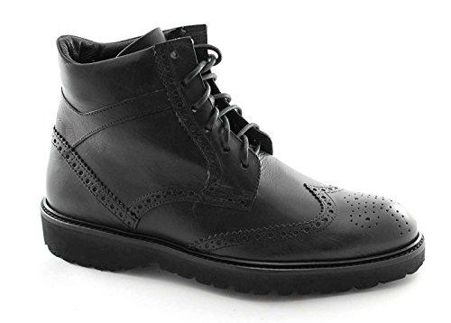 LION 11179 nero scarpe uomo stivaletto polacchino inglese 42