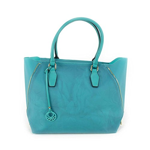 Borsa donna Benetton Shopping in Pvc - Mod. Dana - Col. Verde