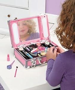 Girl's 16 Pc Pink Light Up Makeup Station Case