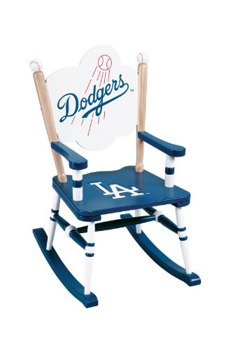 Guidecraft MLB Team Logo Rocking Chair Style: Los Angeles Dodgers at Amazon.com