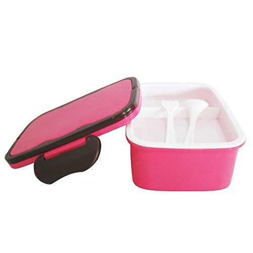 Ieasycan Fashion Crisper Lunch Box Plastic Outdoor Portable Microwave Lunch Boxes With Chopsticks Spoon Food Containers 1200mL (Fruit Containera compare prices)