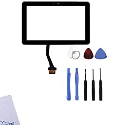 Group Vertical® Black Touch Screen Display Digitizer Front Glass Replacement for Samsung Galaxy Tab 2 10.1\