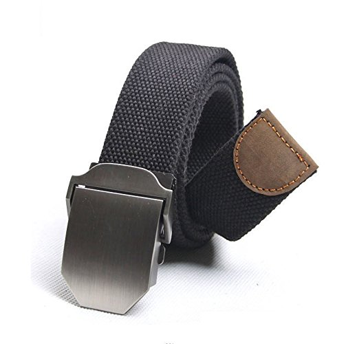 AENMIL Mens Stylish Canvas Belt Military Style with Alloy Slider Buckle Adjustable Canvas Wasit Webbing Belt Canvas Web Belt Adjustable Waistband Belt Fit Waistline in 92-103cm (Quiksilver Waist Pack compare prices)