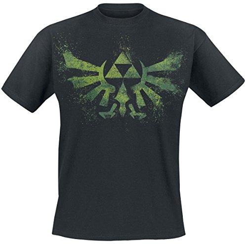 Zelda Crest Splatter T-Shirt nero XS