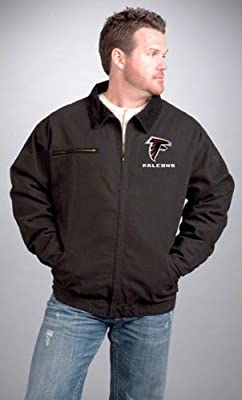 NFL Atlanta Falcons Tradesman Canvas Quilt Lined Jacket, Black, 3X-Large