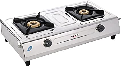 Injla P-201 Mini Body Manual Gas Cooktop (2 Burner)
