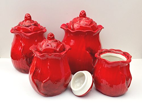 italian tuscan red kitchen canister sets tuscan style