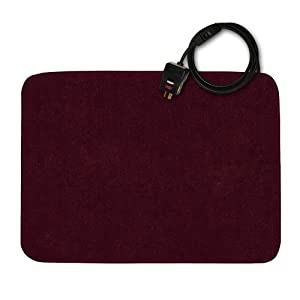 "Small Under Desk Heater (Merlot) (0.25""H x 24""W x 18""D)"