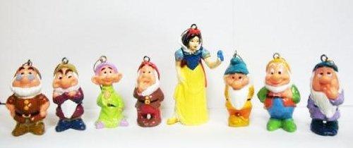 snow white and seven dwarfs ornaments set