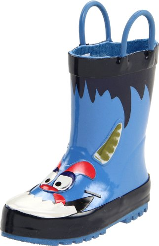 Western Chief Monster Rain Boot (Toddler/Little Kid/Big Kid),Blue,5 M Us Toddler front-828625