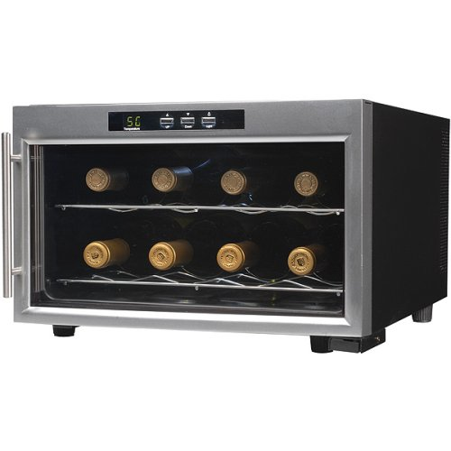 Emerson FR24SL 8 Bottles Wine Cooler with Thermal Glass Door, Stainless Steel