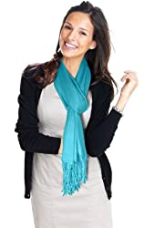 Lauren Solid Color Stunning Pashmina (Turquoise)
