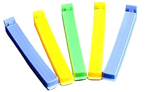 TININNA 5 Clips de Fermeture Hermetiques de Sacs Alimentaires Snack Bonbon Rangement Serre-joint d'étanchéité L