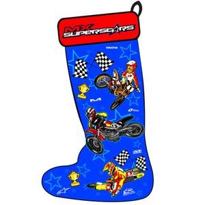 Smooth Industries MX Superstar Holiday Stocking - Blue/Red