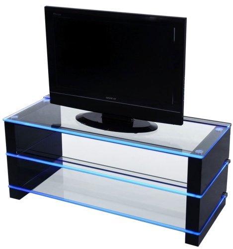 meubles tv demagio dml100 meuble tv led bleu import royaume uni. Black Bedroom Furniture Sets. Home Design Ideas
