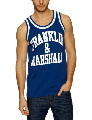 Franklin & Marshall TOMR771S13 Men's Vest Original Blue Medium