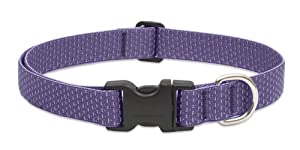 Eco by Lupine 1-Inch Recycled Fiber Collar, Adjustable for 16 to 28-Inch Large Dogs, Lilac