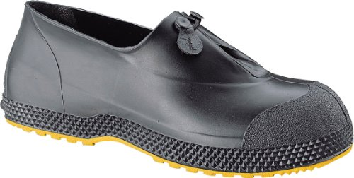 Honeywell Safety 11003-03-MD Servus SuperFit Slip-On Overboot for Men, Medium, Black