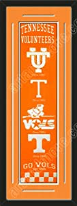 Heritage Banner Of Tennessee Volunteers With Team Color Double Matting-Framed Awesome... by Art and More, Davenport, IA