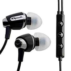Klipsch Image S4i Premium Noise-Isolating Headset with 3-Button Apple Control