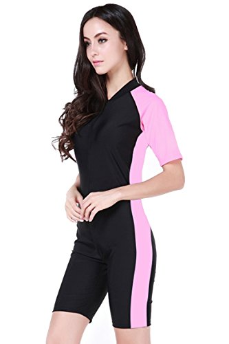 cokar-de-manga-corta-para-una-sola-pieza-de-bano-banador-mujer-pink-black-asian-2xl-uk-xl