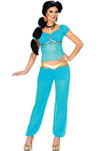 [Mememall Fashion Aladdin Princess Jasmine Fancy Dress Adult Halloween Costume] (Headless Woman Halloween Costume)
