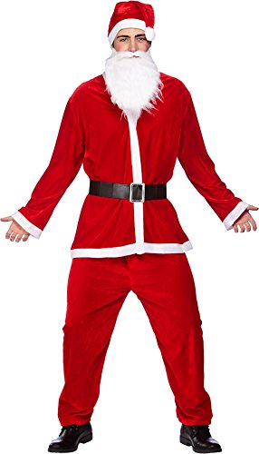 Deluxe 5pc Santa Suit (One Size)