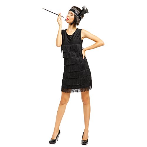 1920s-1930s-Ladies-Fringed-Flapper-Costume-Flapper-Dress-Headpiece