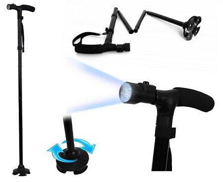 Bastone da passeggio con luce led Magic Cane EL-0087