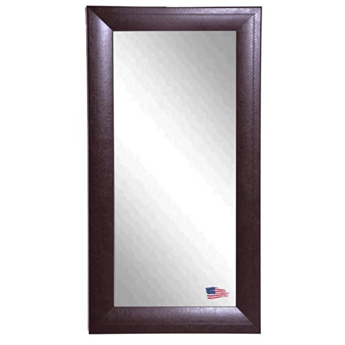 American Made Rayne Espresso Leather 30.75 X 65.75 Floor Mirror front-639215