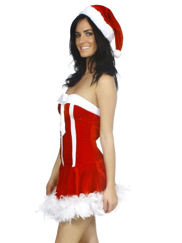 Simplicity Miss Santa Claus Sleigh Belle Velvet Sweetie Dress Costume
