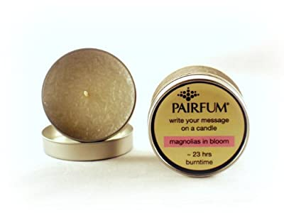Pairfum Message On A Candle Magnolias In Bloom Soy Tin Candle