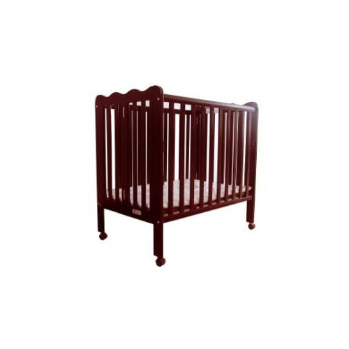 aBaby Fizzy 901 3 Level Folding Portable Crib Playpen, Cherry - 1