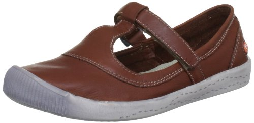 Softinos Women's Ilda Mary Jane Light Brown P900130504 3 UK