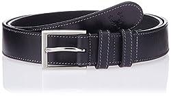 Allen Solly Men's Leather Belt (ASBLT515016_Black) (8907308119217)