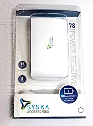 New Syska 7800mAH Power Bank (Power Reserve 78) Charger for SmartPhones -White