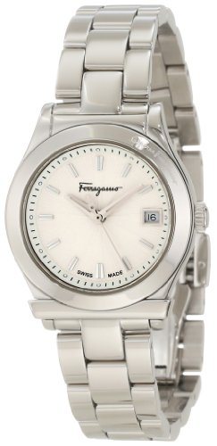 Ferragamo Women's F73SBQ9902 S099 1898 Stainless-Steel White Dial Date Watch
