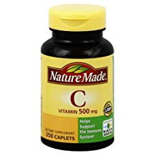 Nature Made Vitamin C, 500 mg, Caplets, 250 ct.