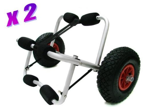 Lot 2~deluxe Boat Kayak Canoe Carrier Dolly Trailer