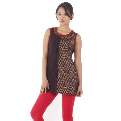 Fashion Srishti Fashion Printed 3\/4Th Sleeve Ladies Fashion Top - Black